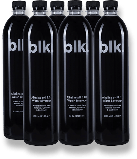 blk. All Natural Alkaline Water 6 Pack 1 Liter