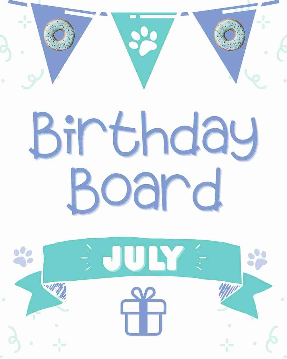 Wüfers Birthday Board July 2020