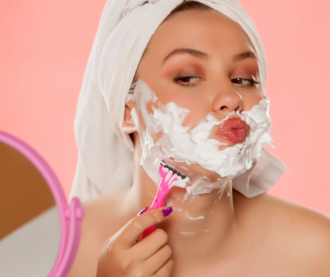 Women with facial hair