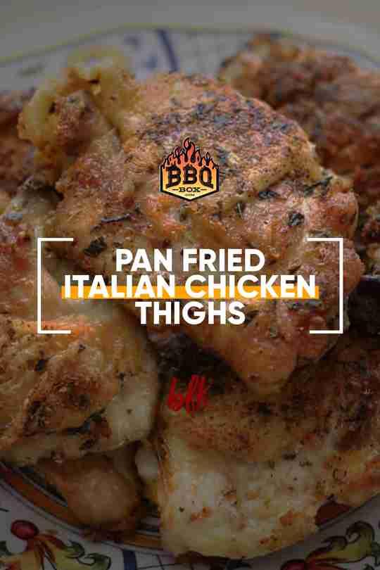 pan-fried italian chicken thighs