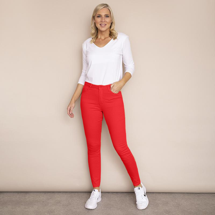 Kylie Cotton Trousers(Red)