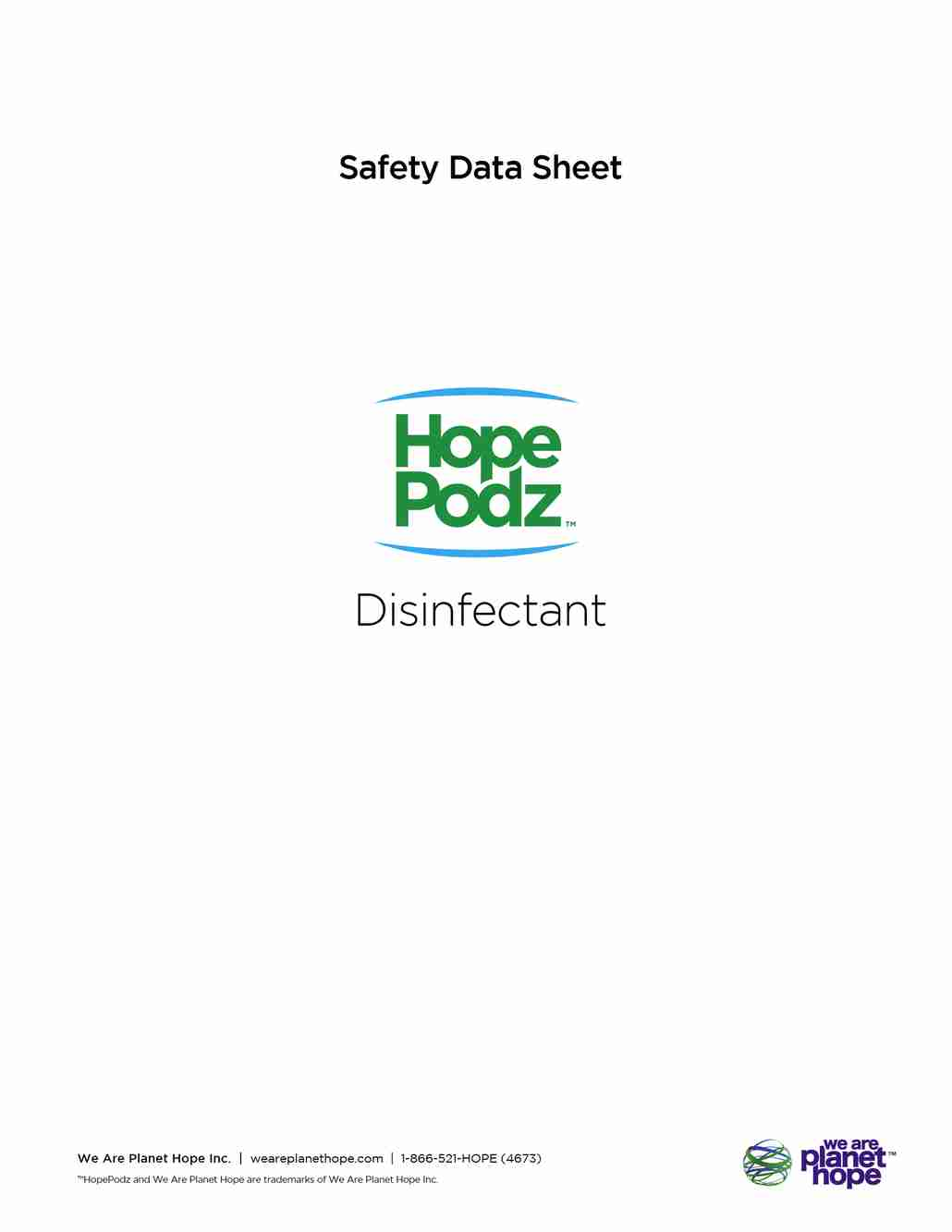 Disinfectant Cleaner Safety Data Sheet