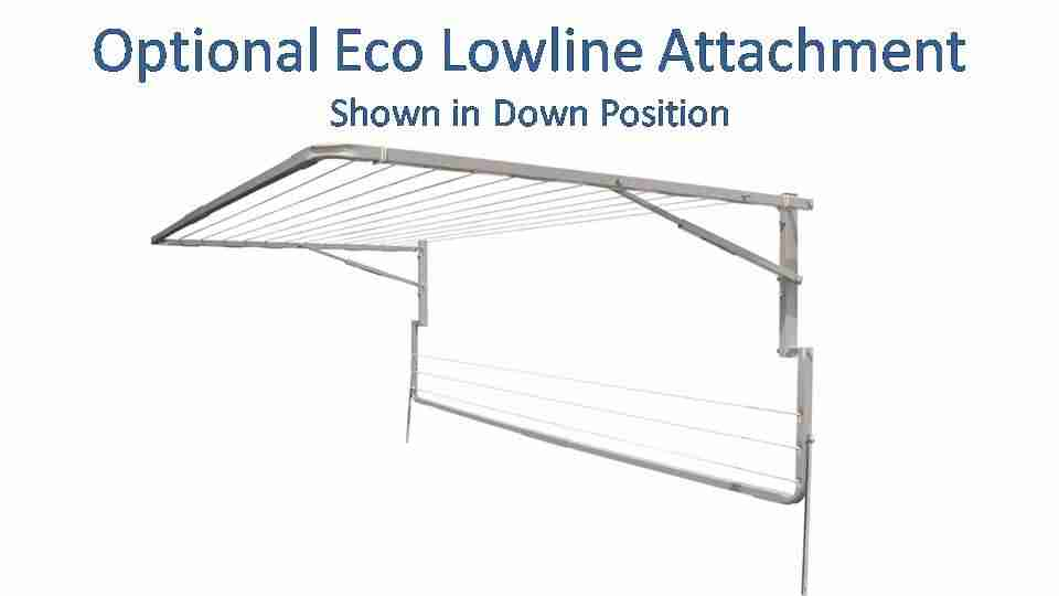 eco 1600mm wide lowline attachment show in down position