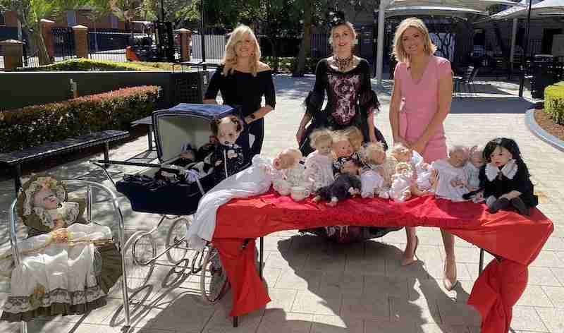 Silvia with Studio 10, Sydney tv station being interviewed and showing the reborn dolls she has made