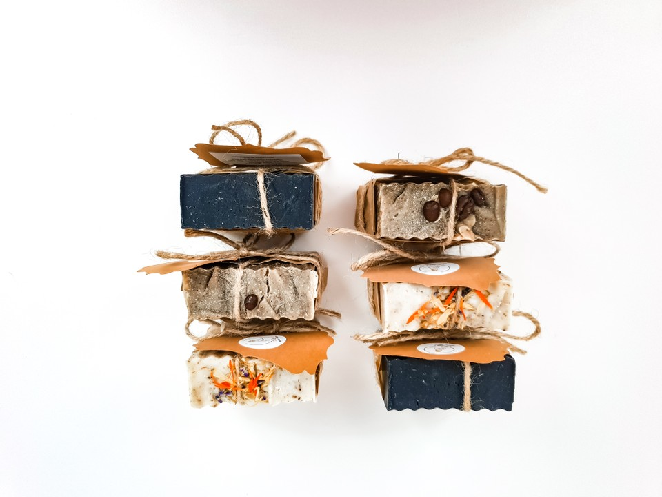 image of 2 AMBITION hand made soap trio set's