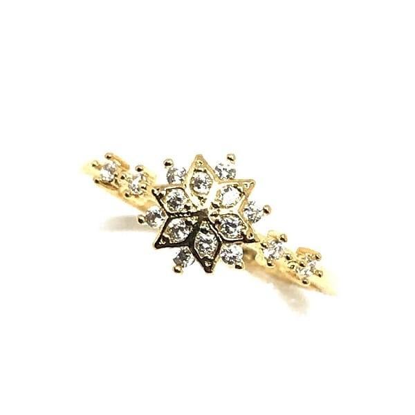 Sophia Snowflake 18K Gold Vermeil Ring