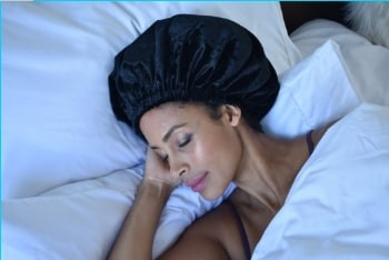 Nighttime Bonnet protects your hair while you sleep