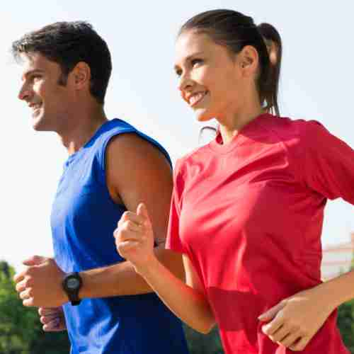What Is Marine Collagen. Couple Out Jogging