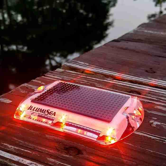 red led solar dock waterproof lights