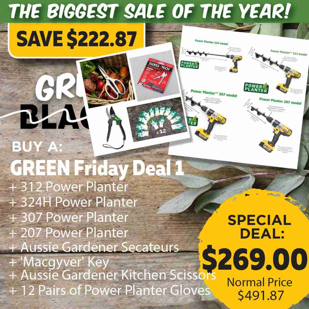 Green Friday Super Deal $491.87 value for just $269 - The biggest sale of the year.