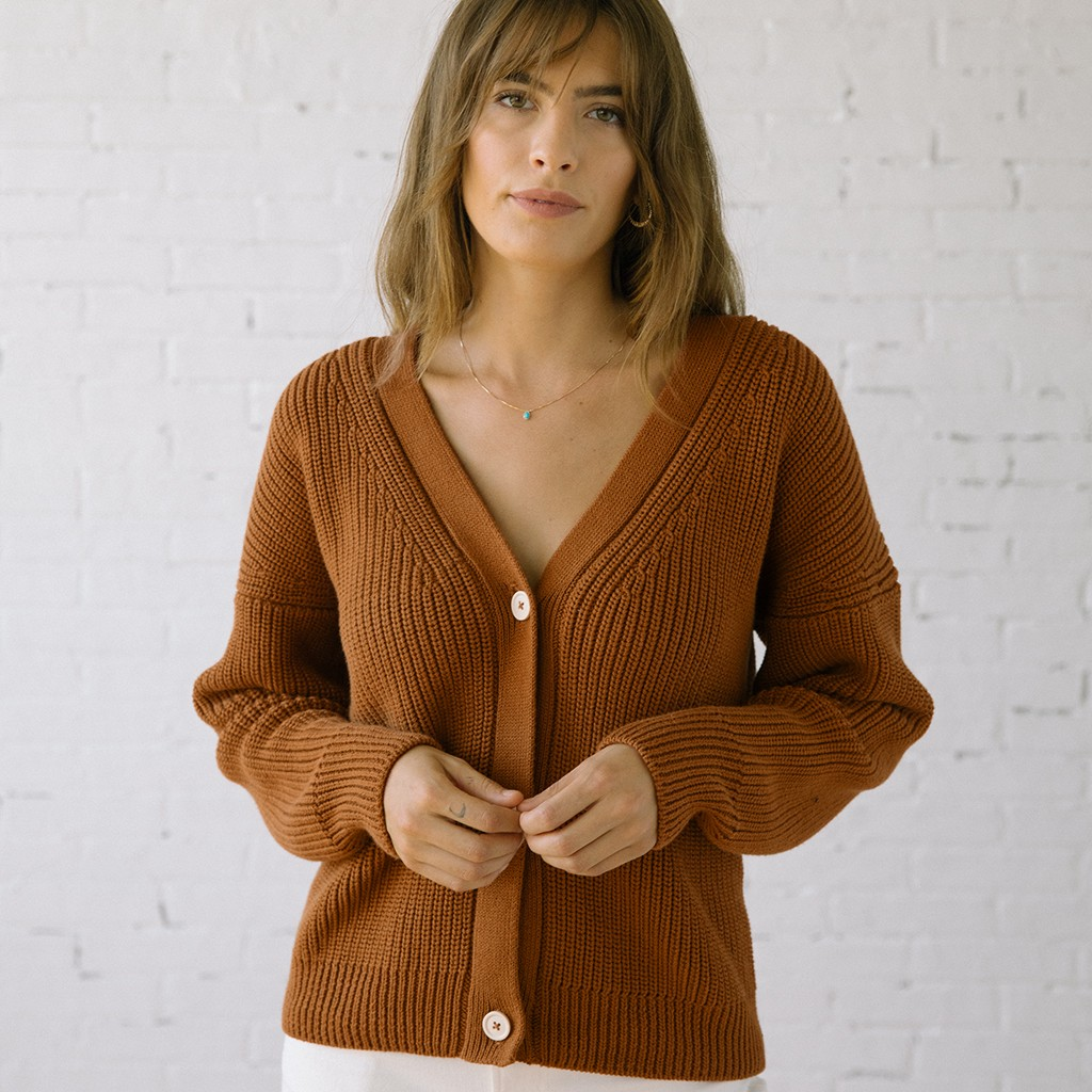 Shelter Cardigan Burnt Sienna