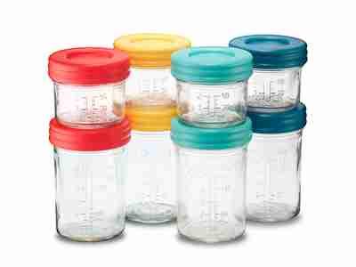 Mixed breastmilk storage jar set