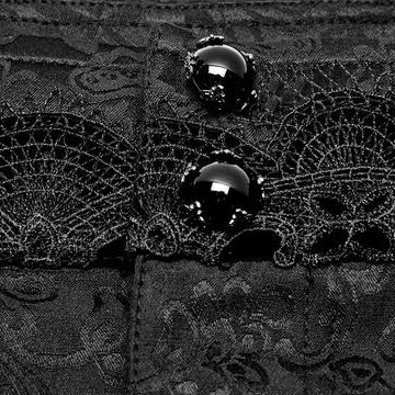 close up on the awesome baroque jewelled button waistband with lace detail