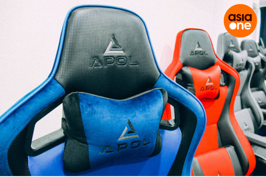 APOL closeup gaming chair neck support image