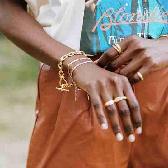 Missoma bracelets and rings