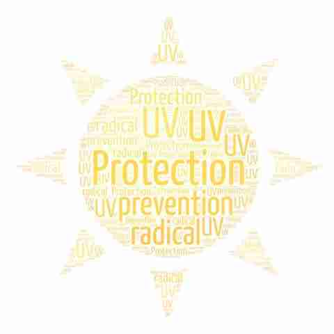 UV protection offered by Vitamin C.