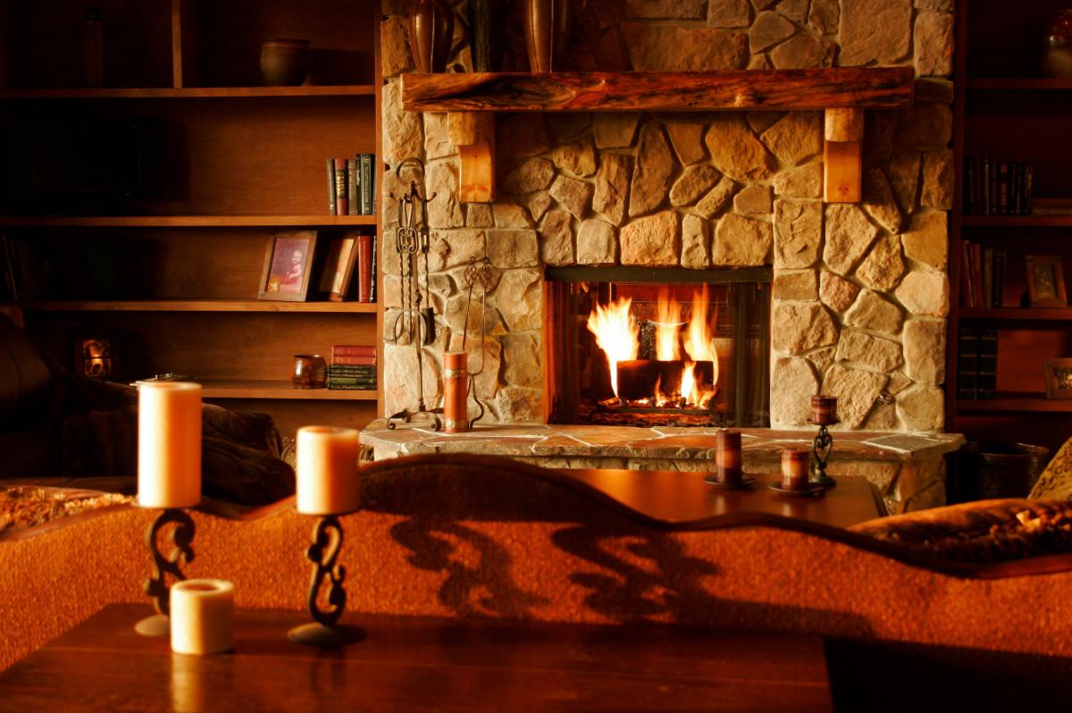 warm fireplace budget ideas