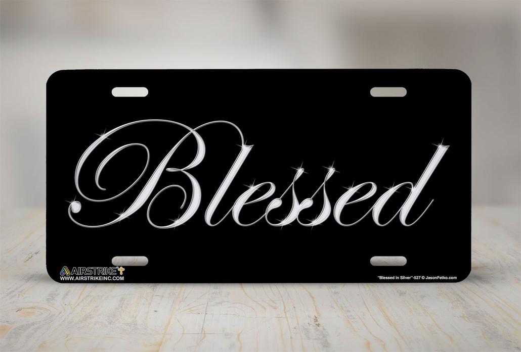 GOD BLESS AMERICA FLAG HEAVY DUTY CHROME License Plate Frame Tag Holder