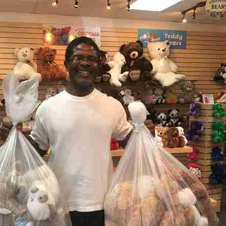 Renarldo from Lake Highlands dropped by and picked up a couple bags of plush.