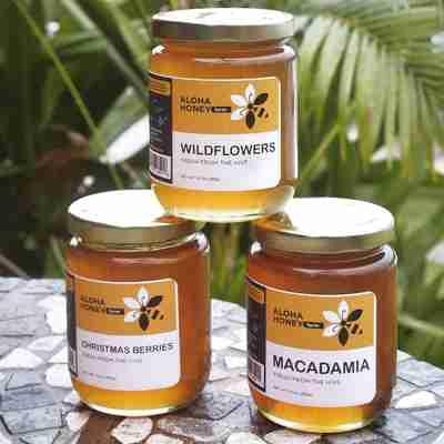 wildflower honey, macadamia blossom honey, Christmas berries blossom honey