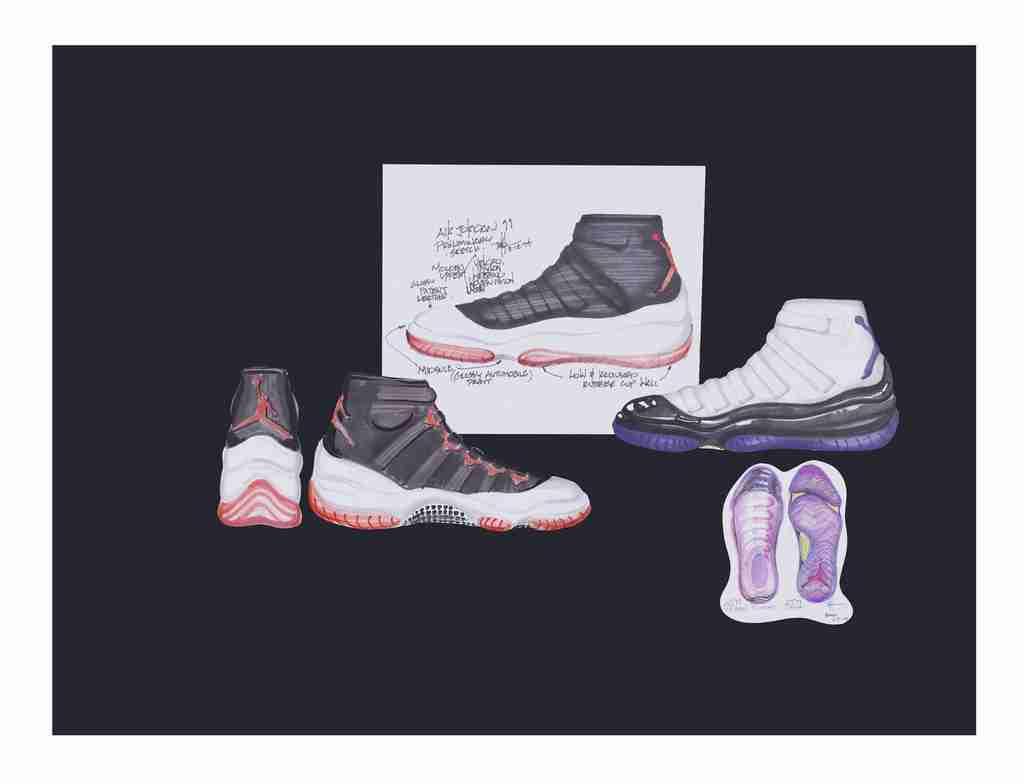 Air Jordan 11 Design Sketches