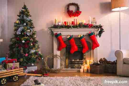 kaus kaki ajaib, dekorasi natal di rumah