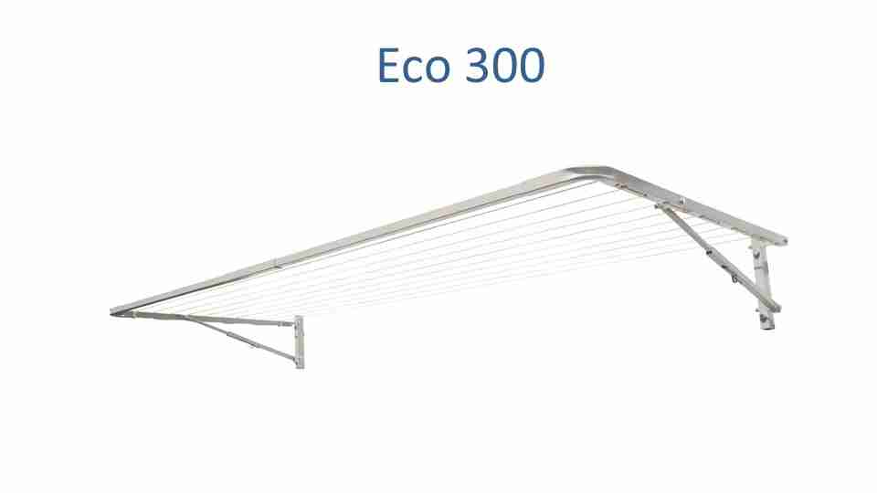 eco 300 290cm wide clothesline front view