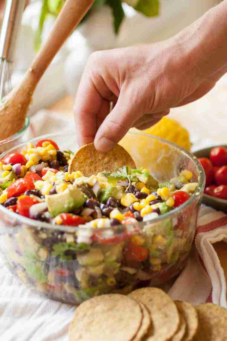Summer Corn, Avacado, & Black Bean Salad