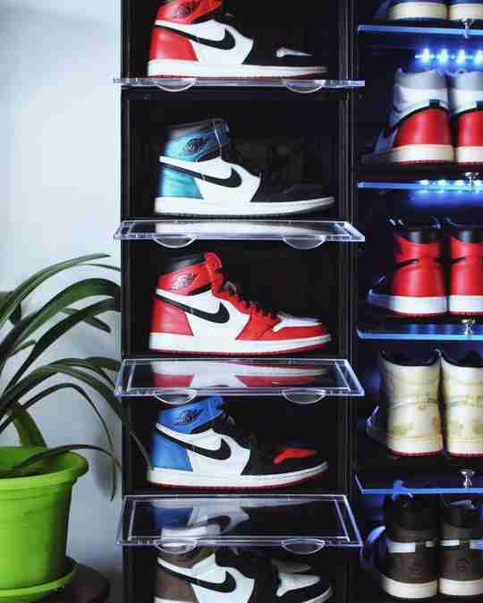 Air Jordan 1s on Display