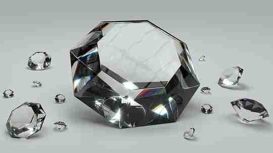 Diamonds on a white background