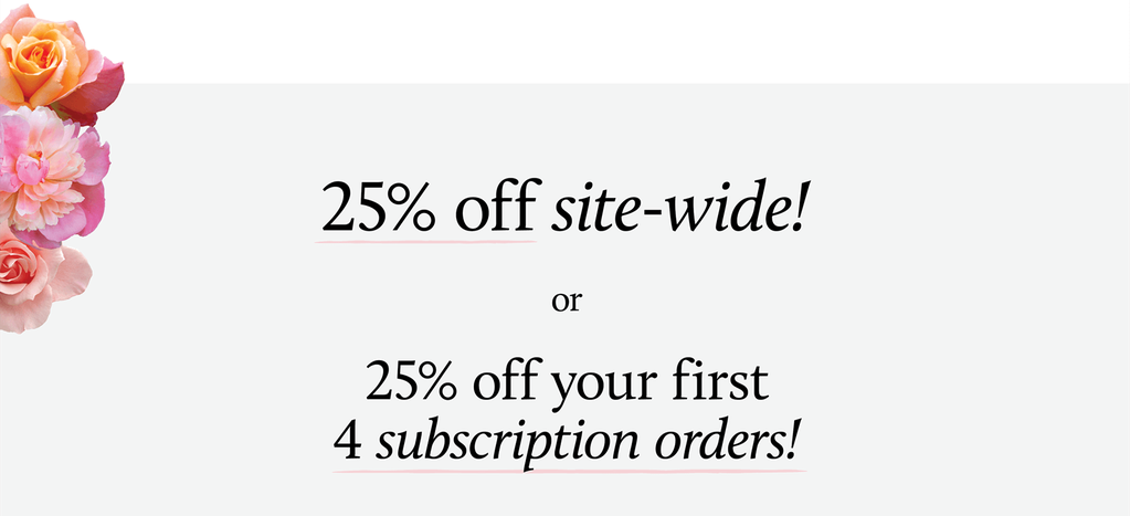 25% off site-wide!