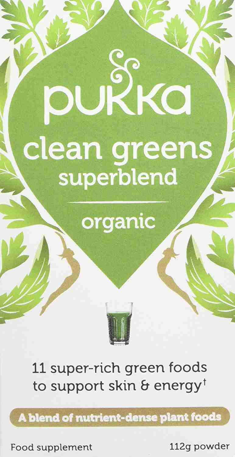 Pukka Clean Greens superblend - contains 11 super rich green foods