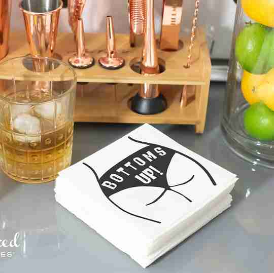Bottoms Up Napkins | Twisted Wares®