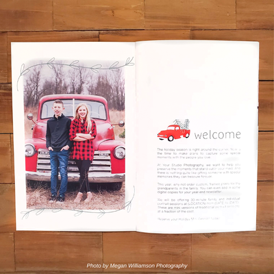 red truck mini session welcome guide