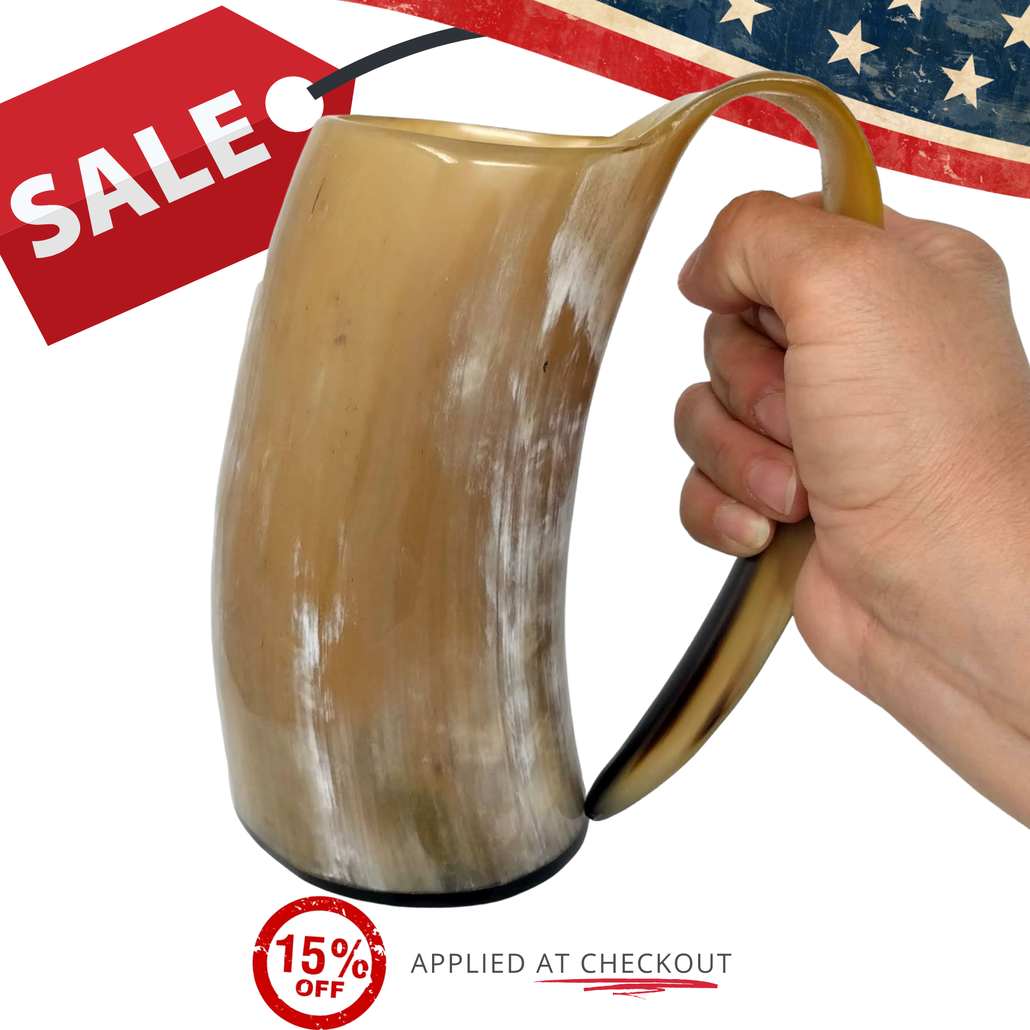 golden pearl drinking horn sale