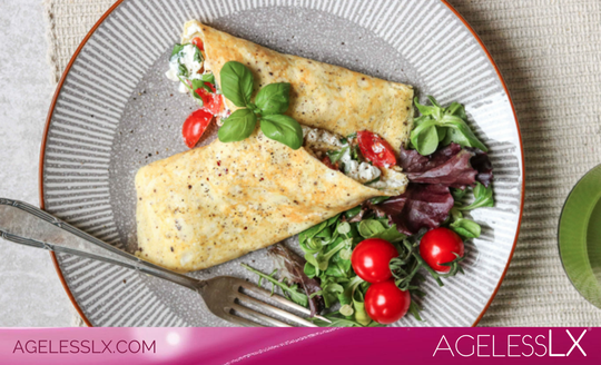 Omelet with Cottage Cheese