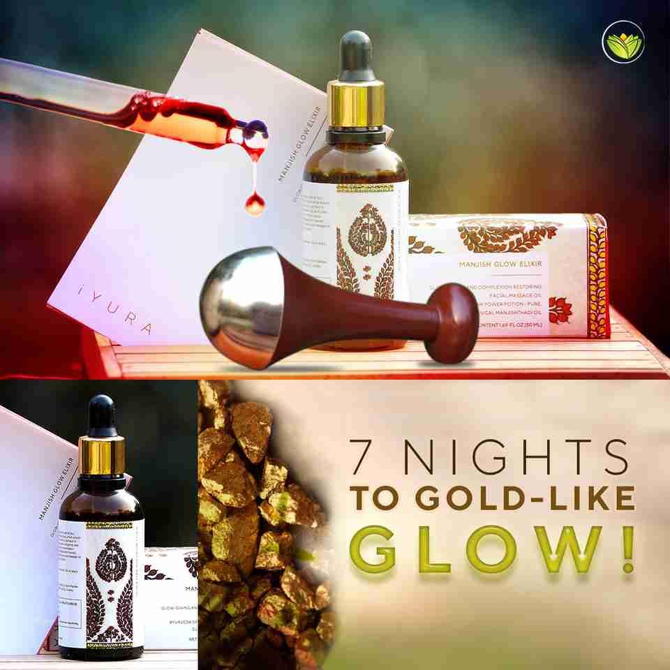 7 Nights To Gold-Like Glow: Pictures of iYURA Manjish Glow Elixir