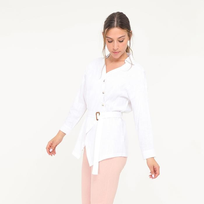 Bonnie Belted Shirt White
