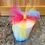 Candle Wrapped in Sparkly Rainbow Ribbon - a Beautiful Gift!
