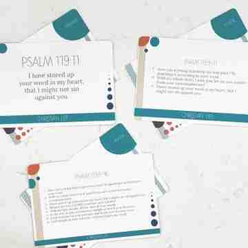 kids scripture memory cards