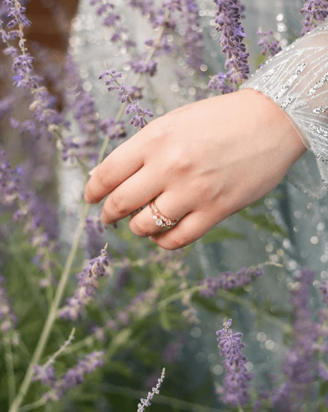 Ring Photoshoot in lavander