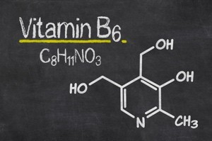 Vitamin B6 chemical structure, found in Drift Off. #VitaminB6 #LeanGreens