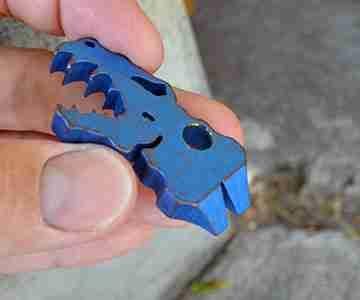 bottle opener and titanium pocket pry bar