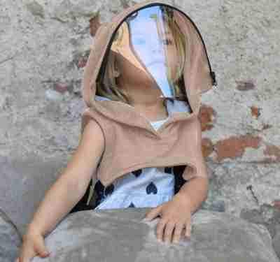 Hood with Face Shield for Kids