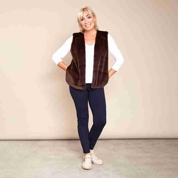 Patricia Fur Gilet (Brown)