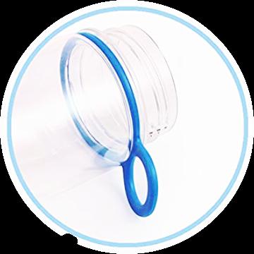 Infuser Water Bottle 25oz - Azure Blue - Carry Handle