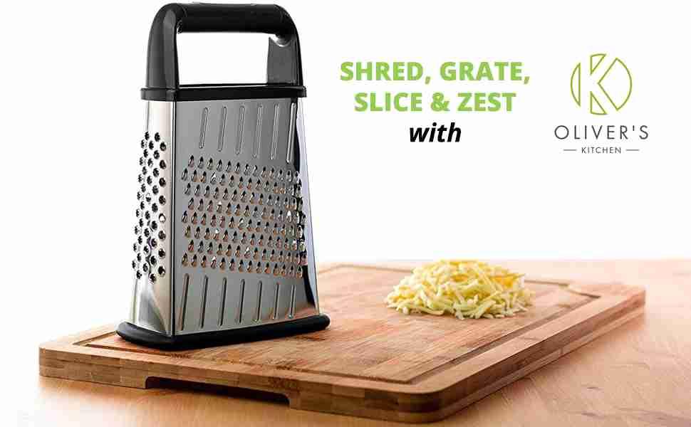 Shred, grate, slice & zest with Oliver's Kitchen.