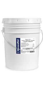 BenzaRid Hospital Grade Cleaner - Disinfectant, Virucide, Fungicide - 5 Gallon Bucket