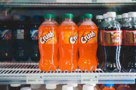sodas in fridge