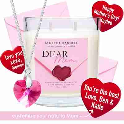 Dear Mom Personalized Candle